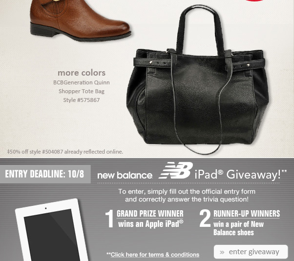 Fab Boots, Bags… And Bargains!