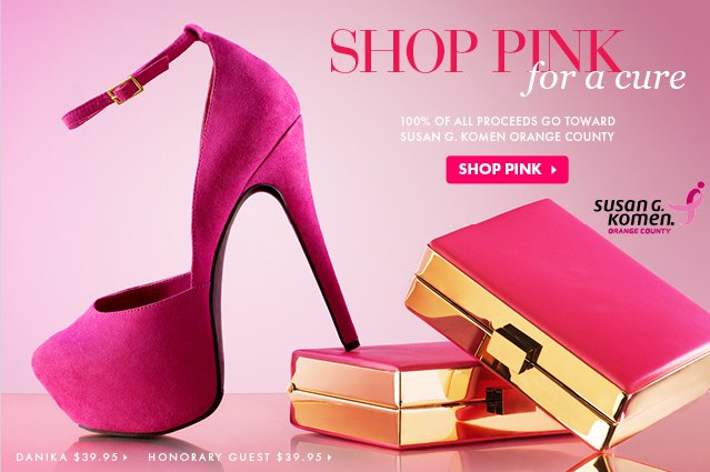 Shop Pink For A Cure.
