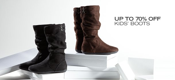 UP TO 70% OFF: KIDS' BOOTS, Event Ends October 8, 9:00 AM PT >