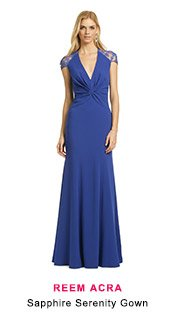 Reem Acra -  Sapphire Serenity Gown