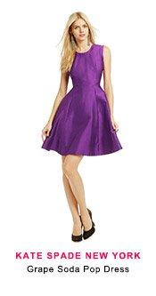 Kate Spade NY -  Grape Sode Pop Dress