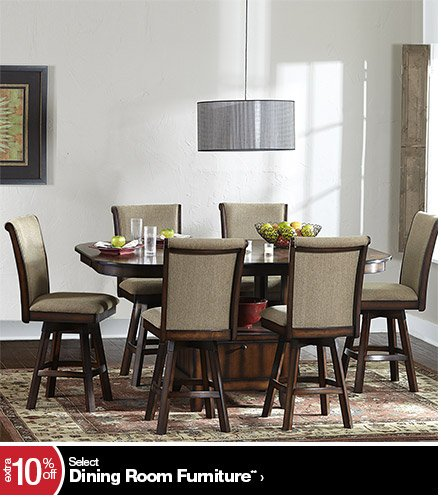 extra 10% off Select Dining Room Furniture**