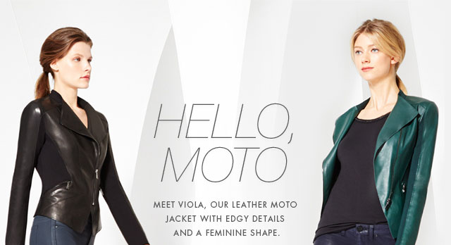 HELLO, MOTO | MEET VIOLA, OUR LEATHER MOTO JACKET WITH EDGY DETAILS AND A FEMININE SHAPE.