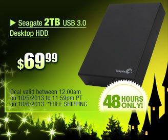 $69.99 -- Seagate 2TB USB 3.0 Desktop HDD