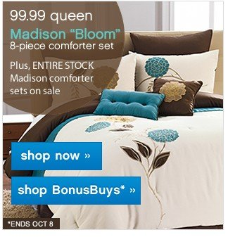Madison Bloom Comforter Set. Shop now. Shop BonusBuys