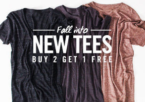 Shop Fall into New Tees: All $15 & Under