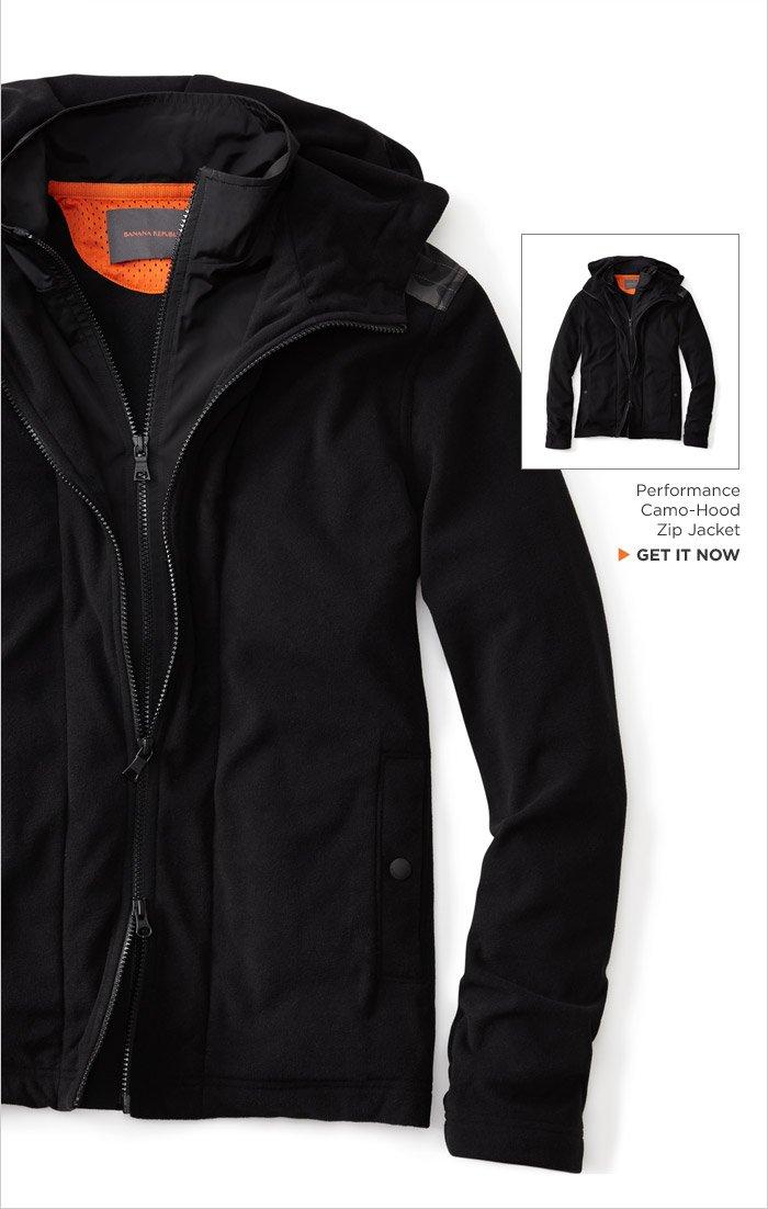 Performance Camo-Hood Zip Jacket | GET IT NOW