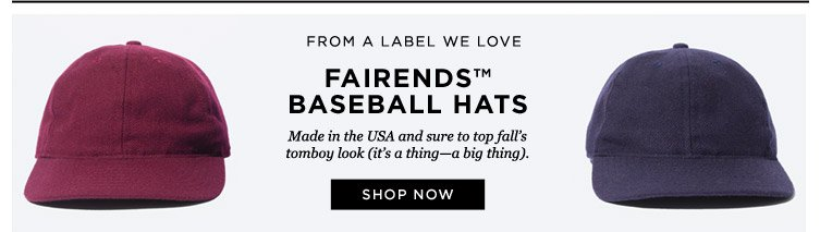 Fairends(TM) baseball hats