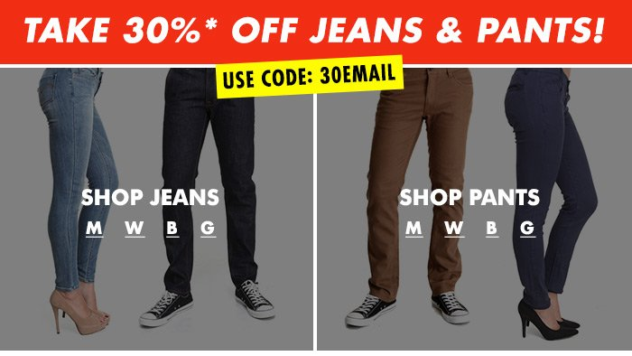 Shop DrJays.com Take 30% Off Jeans and Pants With Promo Code.