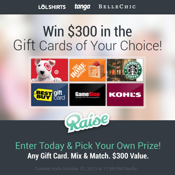 Win $300 in the Gift Cards of Your Choice!
