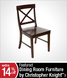 Extra 14% off Featured Dining Room Furniture by Christopher Knight**