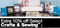 Extra 10% off Select Crafts & Sewing**