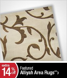 Extra 14% off Featured Alliyah Area Rugs**