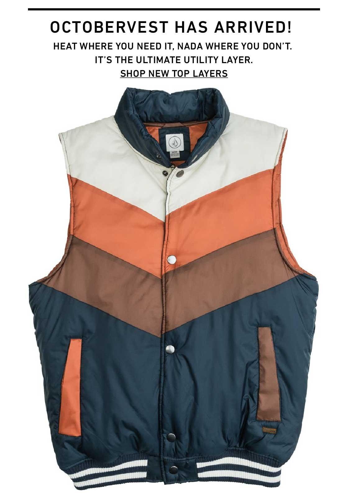 Happy OctoberVest! Shop New Vests and Jackets.