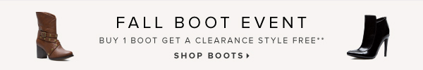 Fall Boot Event Buy a Boot, Get a Freebie!** - - Shop Sale