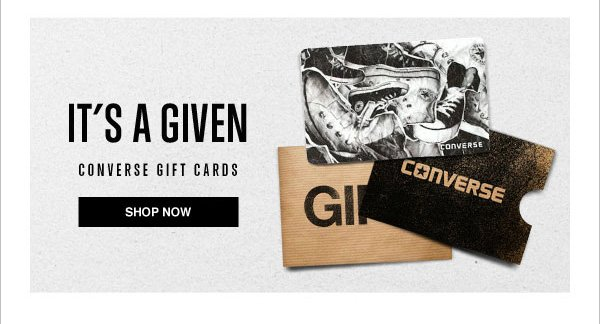 CONVERSE GIFT CARDS