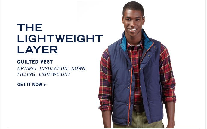 Quilted Vest. Get it now