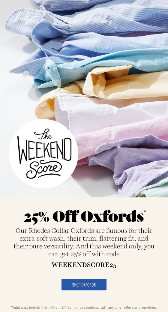 25% off Oxfords