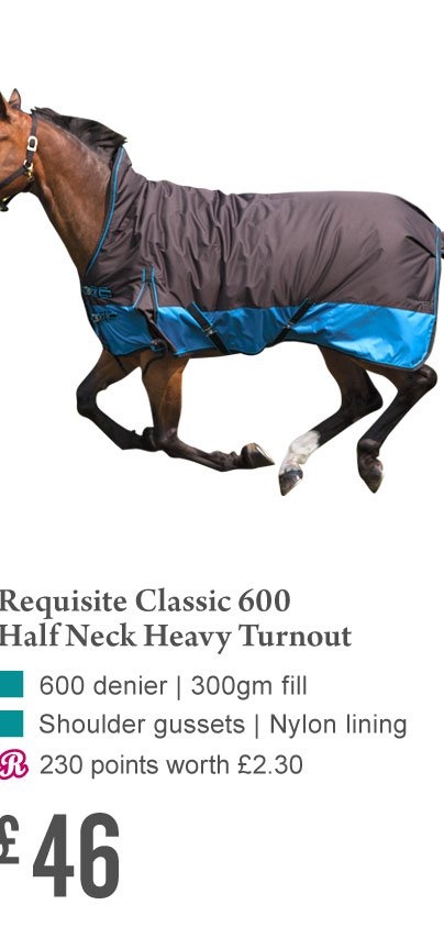 Requisite Classic 600 Half Neck Heavy Turnout £46 (Earn 230 Rider Reward points)