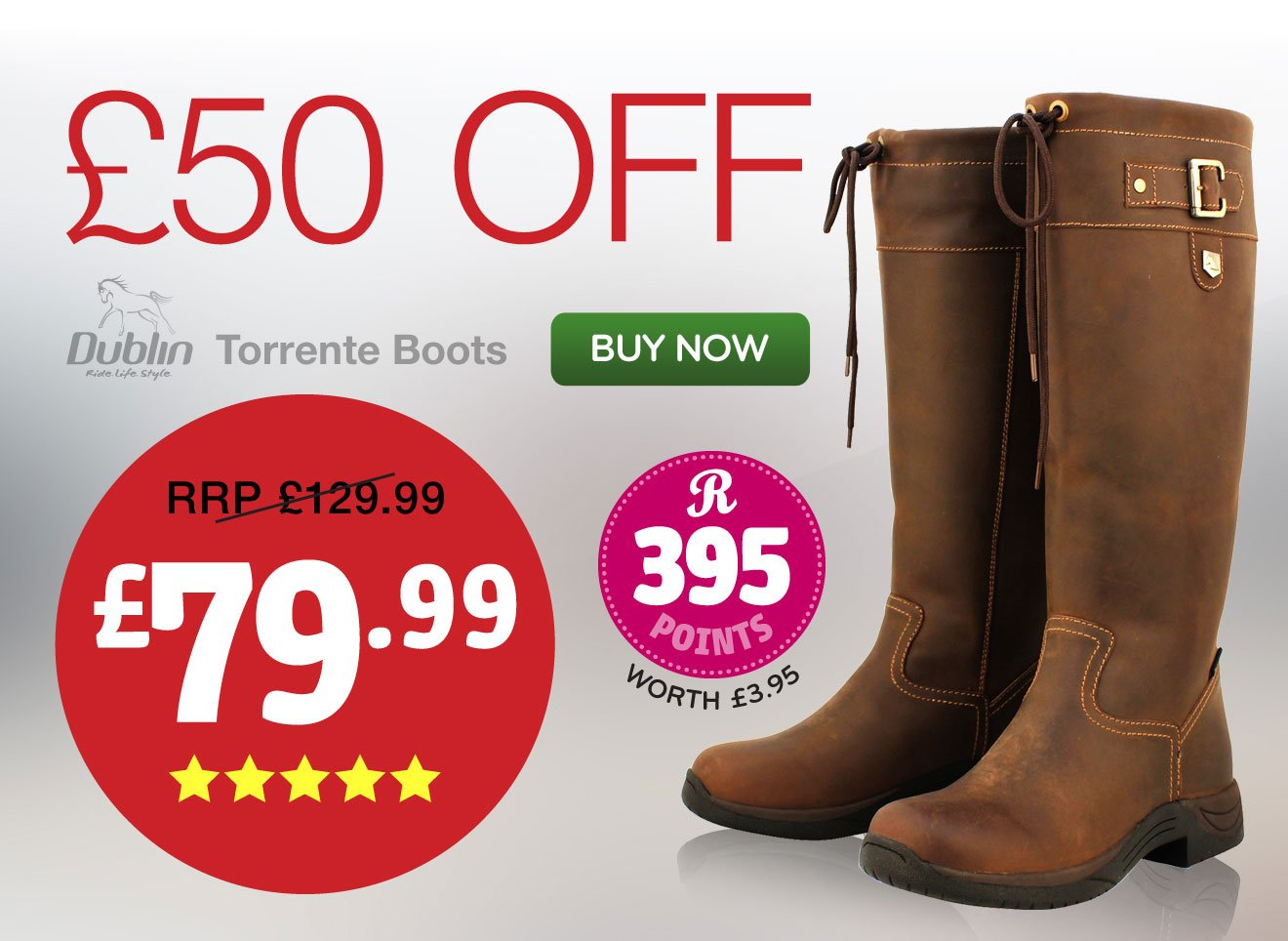 £50 OFF! Dublin Torrente Boots RRP £129.99 NOW £79.99 | Earn 395 Rider Reward points - BUY NOW >