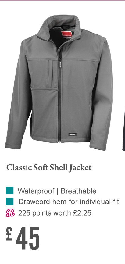 Classic Soft Shell Jacket £45 (Earn 225 Rider Reward points)