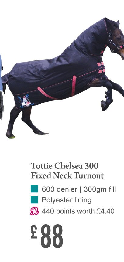 Tottie Chelsea 300 Fixed Neck Turnout £88 (Earn 440 Rider Reward points)