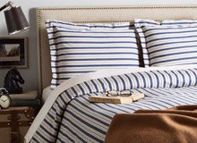 Menswear-Inspired Bedding & Bath In Plaids & More