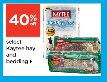 40% off 24oz varieties Kaytee Hay