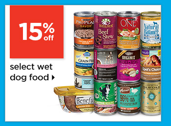 20% off select wet dog food