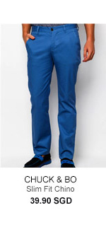 Chuck and Bo Slim Fit Chinos