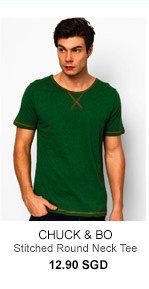 Chuck and Bo Stitched Round Neck Tee