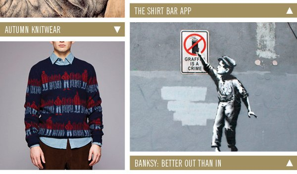 Autumn Knitwear | Banksy: Better out than in