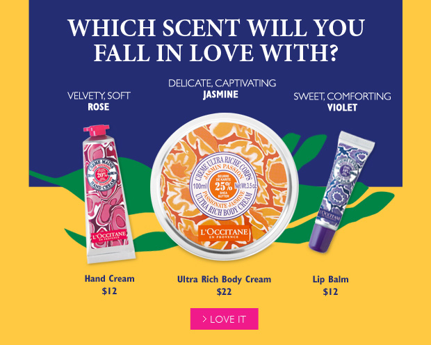 Which Scent will you fall in love with? Rose, Jasmine or Violet