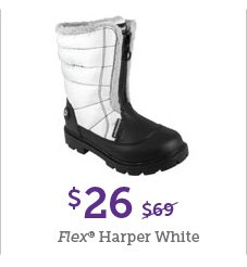 $26 Flex Harper White