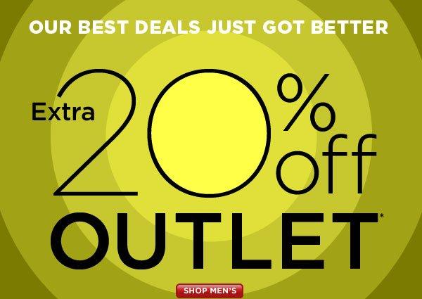 SHOP Men's Outlet 20% Off