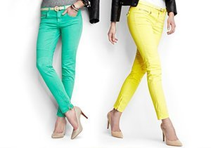 Up to 90% Off: Colored Denim