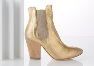 Golden Girl: Shoes that Shimmer