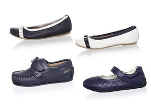 Back to Basics: Black & Navy Kids' Shoes