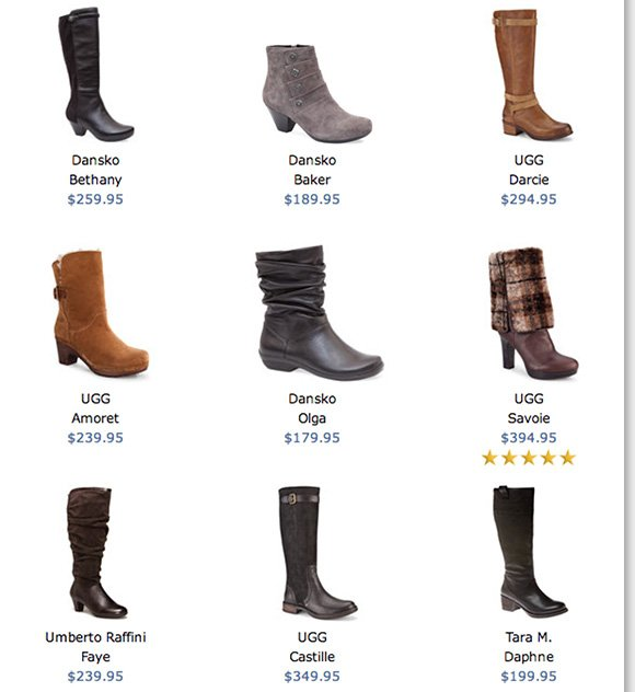 NEW Feature of the Week: Redefine your cold-weather style and enjoy FREE 2nd Day Shipping on over 85 boots from UGG® Australia, Dansko, Tara M., Raffini and more! Shop now to find the best selection at The Walking Company.