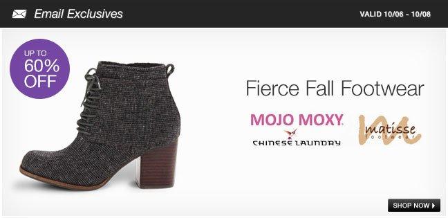 Fierce Fall Footwear