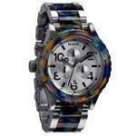 Nixon A0371116 Men's Lefty Silver Dial Two Tone Steel Bracelet Chronograph Dive Watch