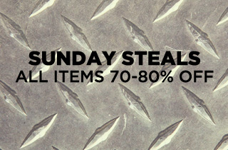 Click to buy Sunday Steals, at up to an extra 80% off.