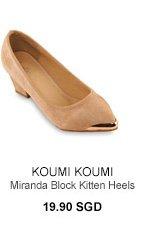KOUMI KOUMI Miranda Block Kitten Heels