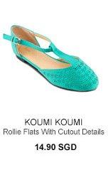 KOUMI KOUMI Rollie Flats with Cutout Details