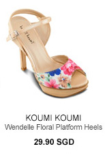 KOUMI KOUMI Wendelle Floral Platform Heels