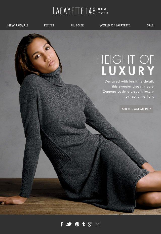 Height of Luxury: Cashmere—collar to hem