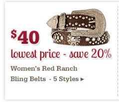 Womens Bling Belts on Sale