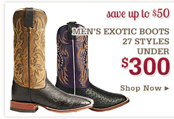Mens Exotic Boots Under 300