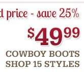49 99 Cowboy Boots
