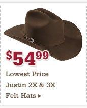 54 99 Justin Hats